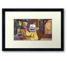 """I successfully bedazzled my face!""-MABEL, GRAVITY FALLS Framed Print"