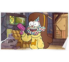 """""""I successfully bedazzled my face!""""-MABEL, GRAVITY FALLS Poster"""