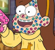 """""""I successfully bedazzled my face!""""-MABEL, GRAVITY FALLS Sticker"""