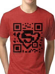 QR Code - Superman Tri-blend T-Shirt