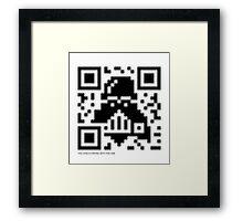 QR Code - Darth Vader Framed Print