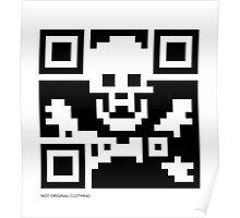 QR Code - Pirate flag Poster