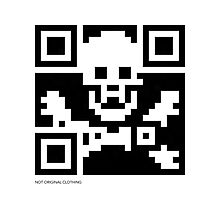 QR Code - Pirate flag Photographic Print