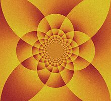 Orange Pshydelic Art by kasseggs