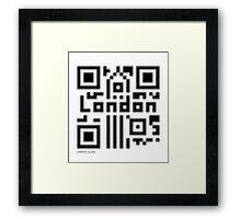 QR Code - London Framed Print