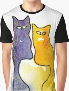 Kitty Couple Graphic T-Shirt