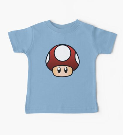 Super Mario Mushroom Baby Tee