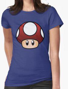 Super Mario Mushroom Womens Fitted T-Shirt