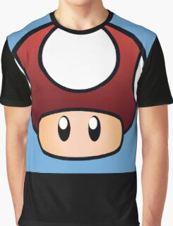 Super Mario Mushroom Graphic T-Shirt