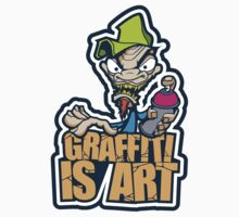 Graffiti Is Art Kids Tee