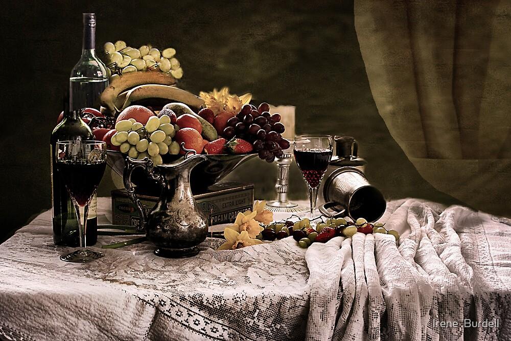 Fruit feast Still Life  by Irene  Burdell