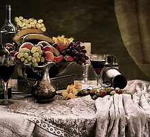 Fruit feast Still Life  by Irene  Burdell