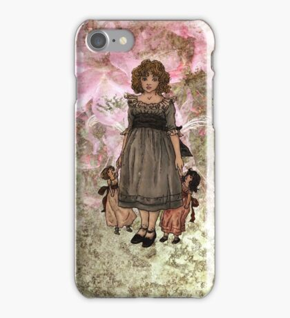 Kate Greenaway-Girl with Dolls iPhone Case iPhone Case/Skin
