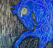 Blue Horse by Lizetteart