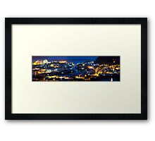 Tai O fishing village at night in Hong Kong Framed Print