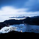 Sunset at power plant in Hong Kong by kawing921