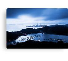 Sunset at power plant in Hong Kong Canvas Print
