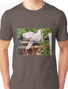 Two Doves Eating Bird Seeds Unisex T-Shirt