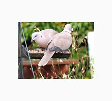 Two Doves Eating Bird Seeds Unisex T-Shirt