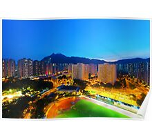 Hong Kong at sunset moment Poster