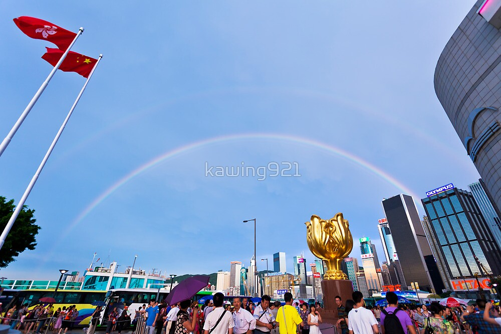 Rainbow in city by kawing921