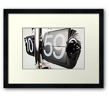 flip clock Framed Print