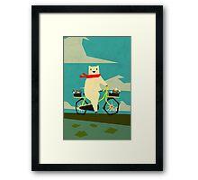 Yeti taking a Ride Framed Print