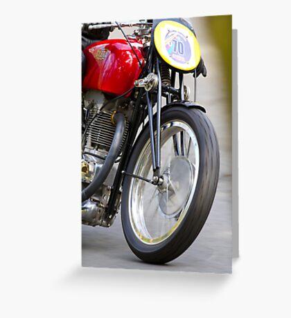 Classic motorcycle Gilera Greeting Card