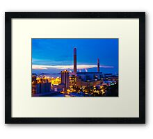 Power plant in Hong Kong at sunset Framed Print