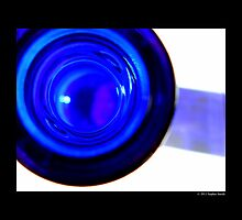 Cobalt Blue Glass Bottle Mouth by © Sophie W. Smith