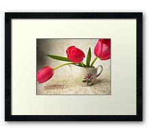Vintage Tulips. Framed Print