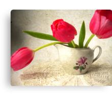 Vintage Tulips. Canvas Print