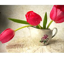 Vintage Tulips. Photographic Print