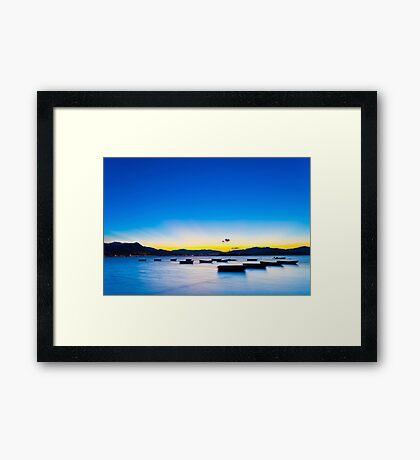 Sunset coast in Hong Kong Framed Print