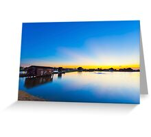Sunset along the pond in Hong Kong Greeting Card