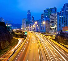 Traffic highway in Hong Kong by kawing921