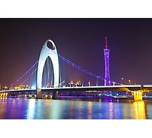 Guangzhou at night Photographic Print