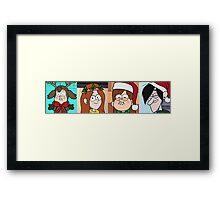 Gravity Falls Christmas Framed Print