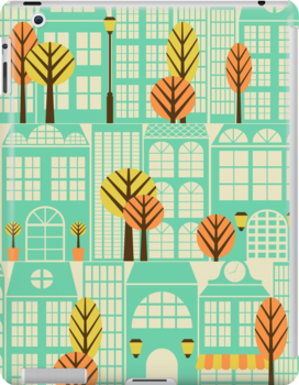 City Buildings Pattern by Iveta Angelova