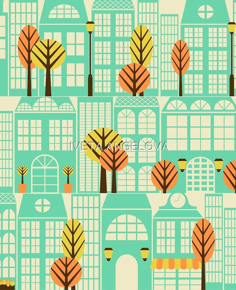 City Buildings Pattern by Iveta Angelova