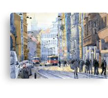 Prague Vodickova str  Canvas Print