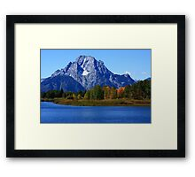 Mt Moran Grand Tetons National Park Framed Print