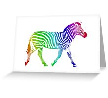 Colorful Rainbow Zebra Greeting Card