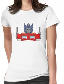 Optimus Prime Pixelated Womens Fitted T-Shirt