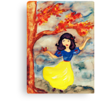Snow White in the Forest Canvas Print