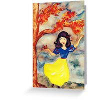Snow White in the Forest Greeting Card
