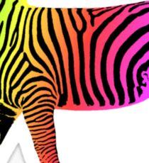 Colorful Inverted Rainbow Zebra Sticker
