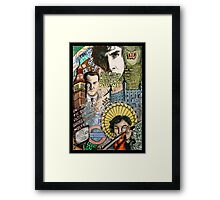 Sherlock dada coloured version Framed Print