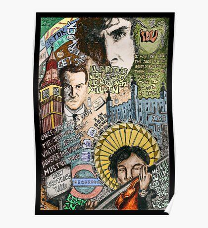 Sherlock dada coloured version Poster