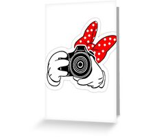 Minney Mouse SLR Greeting Card